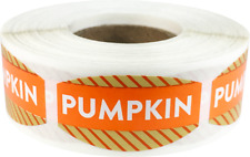 Pumpkin Grocery Market Stickers, 0.75 x 1.375 Inches, 500 Labels on a Roll