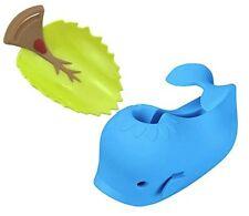 Whale Bath Tub Spout Cover for Toddler Safety & Leaf Design Faucet Extender