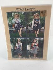 """Mary's Patterns 1994 """"Joy In The Morning Children's Jumpers Size 3 Thru 14 PA29"""