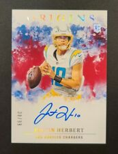 2020 Origins Justin Herbert On Card Red AUTO /99