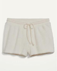 Old Navy Women's Cozy Faux-Fur Sherpa Lounge Shorts - 3-inch Inseam Size XL