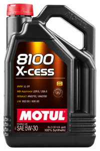 MOTUL USA Motor Oil - 8100 X-cess - 5W30 - Synthetic - 5 Liters  Jug 108946