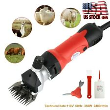 Sheep Goat Shears Clippers Electric Animal Shave Grooming Farm Supplies Red Us