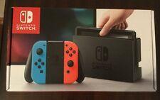 Nintendo Switch 32GB Console (Neon Blue/Red Joy Controllers) **Hot** NIB