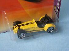 Matchbox Caterham Superlight R500 Yellow Body English Sports Car in BP 63mm