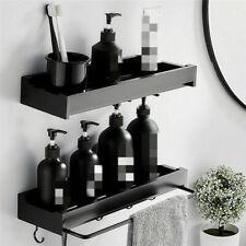 Non Rust Bathroom Shelf Shower Pole Storage Rack Organiser Tray Holder
