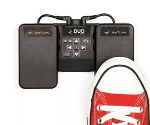 AirTurn DUO 200 Silent Bluetooth Pedal Page Turner Teleprompt App Controller