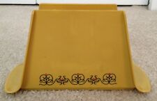 Yellow/Beige Vintage Napkin Holder w/ Flower Pattern Eagle Brand Made in the USA