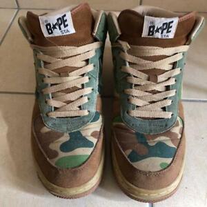 A BATHING APE Bape Sta Camo Mid Rare Mens Used Sneakers US 8.5 Shose JP 26.5
