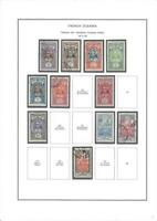 FRENCH COLONIES - OCEANIA / POLYNESIA - LOT OF STAMPS ON PAGES