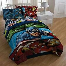 Avengers Captain America Hulk TWIN Comforter Marvel Comics Mircofiber NEW 237707