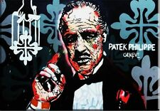 """Alec Monopoly """"THE GODFATHER""""  HD print on canvas large wall picture 30x20"""""""