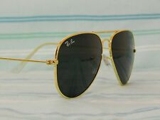 ORIGINAL RAY BAN AVIATOR 3025 BLACK LENS GOLD FRAME 58 MM SIZE MEDIUM
