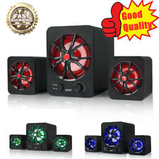 LED USB Wired Computer Speakers Stereo Bass Subwoofer Mini For PC Laptop Desktop