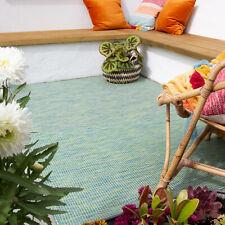 Green Flatweave Rugs Indoor Outdoor Weatherproof Durable Mats Summer Garden Rug