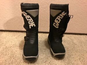 Gaerne Rocket Black Italian hand made Riding Boots Size 8 Regular
