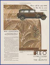 Vintage 1929 REO Flying Cloud Sedan Automobile Closed Car Ephemera 20's Print Ad
