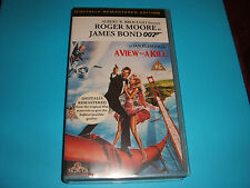 V.H.S. VIDEO TAPE COLLECTABLE..JAMES BOND 007....A VIEW TO A KILL..
