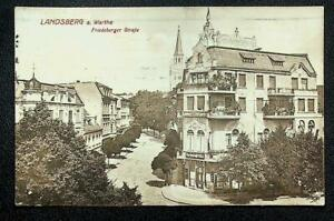 Landsberg a. Warthe, Friedeberger Straße, Café,Lichtdruck-AK, gel. 1915 Feldpost