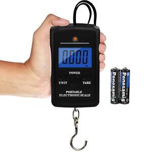 New 40Kg Electronic Digital Scale Pocket Hanging Luggage Fishing Portable UK