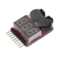 1-8S Lipo/Li-ion/Fe Battery Voltage 2IN1 Tester Low Voltage Buzzer Alarm