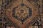 Pre-1900 Antique Tribal Geometric Abadeh Area Rug Hand-Knotted Wool Carpet 4'x6'
