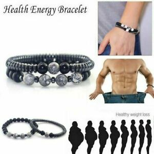 2021Magnetic Healing Therapy Bracelet Arthritis Hematite Weight Loss Pain Relief