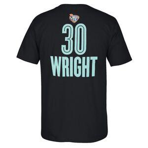 Tanisha Wright Adidas New York Liberty Player N&N Jersey Black T-Shirt Men's