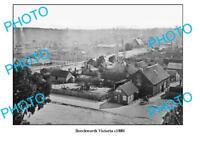 OLD 6 X 4 PHOTO OF BEECHWORTH VICTORIA TOWN SCENE c1880