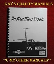 Collins KW-1 Instruction Manual (First Edition Jan 1952) 😊C-MY OTHER MANUALS😊