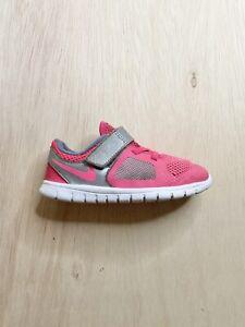 Toddler Kids' Nike Shoes Size 9C Pink Silver Single Strap 642750-601