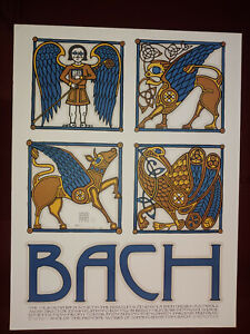 1973? Bach Society Poster - David Lance Goines - Excellent condition - No Repro