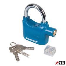 Silverline 507205 Aluminium Alloy Alarm Padlock 70mm
