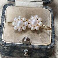 18ct Gold Cultured Pearl Earrings, Japanese AAA Gem Quality Akoya Flower Cluster