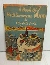 Elizabeth David MEDITERRANEAN FOOD John Minton illustrations A BOOK OF 1st/dj