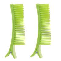 2pcs Pro Hair Clip Shape Comb Salon Cut Hair Styling Tool for Barber Hair