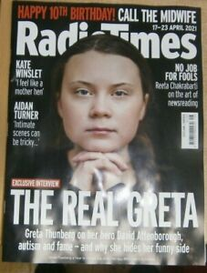 Radio Times magazine Scotland/Borders TV Guide 17-23 Apr 2021 Greta Thunberg