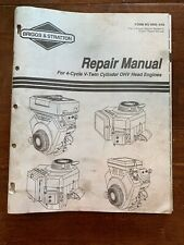 Briggs & Stratton MS9856 Technical Service Shop Repair Manual V-Twin OHV Engines