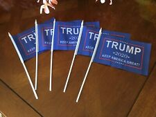 """5 Small Trump Hand Waving Election Flag Banners 5""""x8"""""""