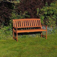 Kingfisher FSWBENCH3 3 Seater Hardwood Garden Patio Bench - Wood