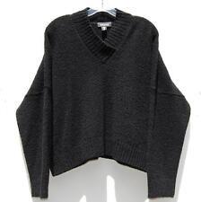 NWT Eskandar Bergdorf Goodman BLACK Handloomed Wool Cashmere V-Neck O/S $995