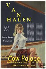 David Lee Roth & Van Halen at The Cow Palace Concert Poster Circa 1984