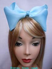light sky blue Handmade huge Big Girl Extra Large  JUMBO Satin clip Hair Bow