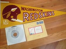 HAIL TO THE REDSKINS 45 RPM RECORD SIGNED BY COMPOSER BARNEE BREESKIN PENNANT