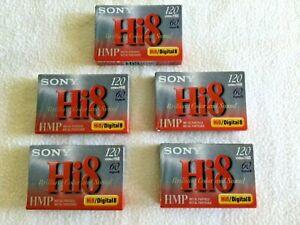 Sony Hi8/Digital8 Five Single New Still in Wrapper Tapes