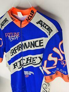 Voler Cycling Jersey Men XL Visibility Purple Shortsleeve 1/2 Zip Ritchey iClif