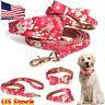 US Pet Dog Cat Adjustable 3D Necklace Leash Floral Cute Puppy Rope Soft Collar