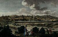 Jerusalem 1779 Holy Land Palestine engraved hand color city view fine print