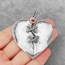 2Pcs Antique Silver Love Heart Charms Pendants for Jewelry Necklace Making