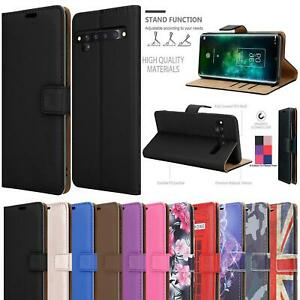 For TCL 10 Pro Case, Magnetic Flip Leather Book Wallet Shockproof Phone Cover
